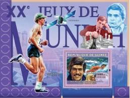 gu0712b Guinea 2007 Sports Olympic s/s Munich 1972 Swimming Space Runnig Chess
