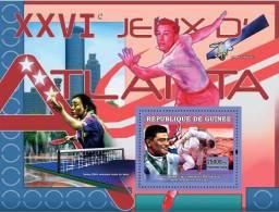"gu0714b Guinea 2007 Sports Olympic s/s Atlanta 1996 Eugene Curran ""Gene"" Kelly Judo Table Tinne Space"
