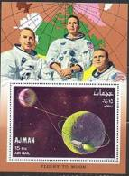 Ajman BF 288A Trajectory Of Apollo 8, Neuf** Sans Charniere - Space