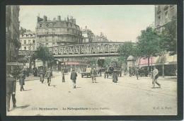 75. PARIS  ( ILE DE FRANCE ). ANIMEE...MONTMARTRE.. BARBES...LE METROPOLITAIN...C1411 - Métro Parisien, Gares