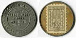 N93-0072 - Timbre-monnaie Johann Urban 100 Kronen - Kapselgeld - Encased Stamp (Autriche) - Monétaires / De Nécessité