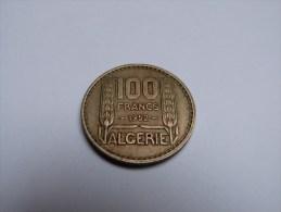 100 FRANCS  ALGERIE .1952. - Argelia