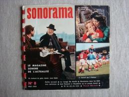 Sonorama N°8 Mai 1959 Gabin, Gréco Tournoi Des 5 Nations. Voir Sommaire Et Photos. - Audio Books