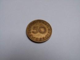 50 FRANKEN .SAARLAND 1954. - Saar