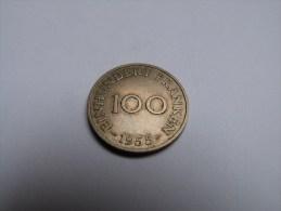 100 FRANKEN .SAARLAND 1955. - Sarre