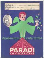 Protège Cahier PARADI Chlorobenzène Désodorisant Anti-mites - Protège-cahiers