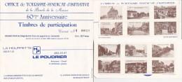 Carnet De TIMBRES De PARTICIPATION - Office De Tourisme De La MARNE - 60 ème ANNIVERSAIRE -1985 - Lottery Tickets
