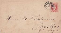 ÖSTERREICH 1870?, 5 Kreuzer Auf Brief Mit Stempel Reichenberg Gel.n.Berlin - 1850-1918 Imperium