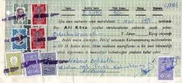 TÜRKEI, Seltene Türkische 8 Fach Frankatur Auf Dokument, Mehrere Stempel Und Unterschriften - Türkei