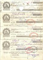 CAMBIALI 1965-1966-1967 LOTTO DI 8 RICHIAMATE  C.1515 - Letras De Cambio