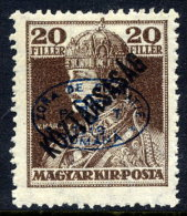 DEBRECEN 1919 20f Karl Köztarsasag With Blue Overprint LHM / *   Michel 58b - Debreczen