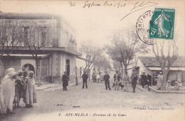 CPA ALGERIE AIN MLILA Avenue De La Gare - Other Cities