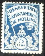 Locales Mollina Galvez 456 (*) Beneficencia - Vignette Della Guerra Civile
