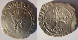 France Bourgogne Côte D´Or Dijon Gros Florette Jean-sans-Peur Au Nom De Charles VI Juillet 1419 Lis Initial à L´avers. - 1380-1422 Charles VI Le Fol