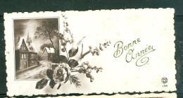 Mignonnette -   Paysage Enneigé ,  Bonne Année écrite Au Dos  Datée  En 1936  Ax7017 - Nouvel An