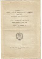 Istituto Francesca Saverio Cabrini Misisonarie Del Sacro Cuore Scuola Elementare Programma 1931    C.1521 - Programs