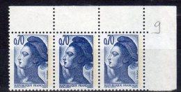 Liberté De Gandon - N° 2240a** (0,70F Bleu-violet Avec Double Frappe Du Timbre Central) - 1982-90 Liberty Of Gandon