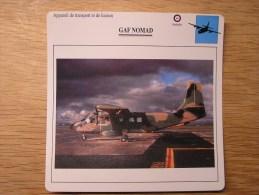 GAF NOMAD       FICHE AVION Avec Description  Aircraft Aviation Transport Et Liaison - Avions