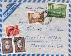 ARGENTINA 1950?, 5 Fach Frankierung Auf LP-Brief V.San Nicolas Argentina - Berlin - Argentinien