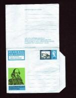 AEROGRAMMES 2 Pièces Différentes   Festival Shakespeare  Non Circulés  ( Scans Recto, Verso ) - Postwaardestukken