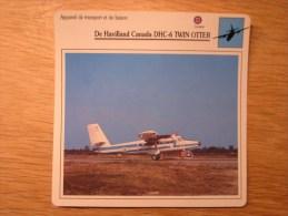 DE HAVILLAND CANADA DHC-6 Twin Otter      FICHE AVION Avec Description  Aircraft Aviation Transport Et Liaison - Flugzeuge