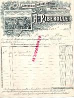 23 - FOREST PAR FELLETIN - TRES BELLE FACTURE LAITERIE DOMAINE FOREST- BEURRE FROMAGE- H. RIBEROLLE-1901 - France