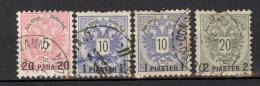 Autriche, Levant  1875 / 83 Série Surchargée YT 16, 17 , 18  Obl / Used / Gest - Oriente Austriaco