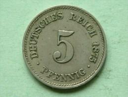 1875 F - 5 PFENNIG / KM 3 ( For Grade , Please See Photo ) ! - [ 2] 1871-1918 : Empire Allemand