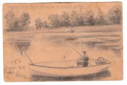 Belgique - Enghien - Vue Du Grand étang De La Chapelle Du Parc - Dessin Au Crayon D'un Soldat En 1914 - Enghien - Edingen