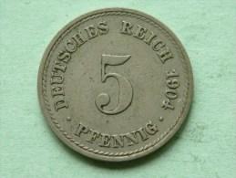 1904 A - 5 PFENNIG / KM 11 ( For Grade , Please See Photo ) ! - [ 2] 1871-1918 : Empire Allemand