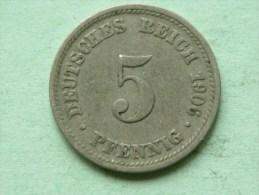 1906 D - 5 PFENNIG / KM 11 ( For Grade , Please See Photo ) ! - [ 2] 1871-1918 : Empire Allemand