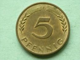 1950 F - 5 PFENNIG / KM 107 ( For Grade , Please See Photo ) ! - 5 Pfennig