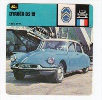 Fev14   63789    Fiche Automobile    Citroën DS 19 - Motorsport