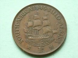 1945 - 1 Penny / KM 25 ( For Grade , Please See Photo ) ! - Afrique Du Sud