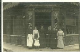 92 CPA Asnieres Boucherie Famille Mondellot Legrain Genealogie - Asnieres Sur Seine