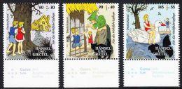 !a! GERMANY 2014 Mi. 3056-3058 MNH SET Of 3 SINGLES W/ Bottom Margins -Fairy Tales By Grimm: Hansel And Gretel - Ungebraucht