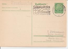 DR P 225 - 5 Pf Hindenburg Med. Mit Bl Sonderstempel Ludwigshafen Festwoche - Enteros Postales