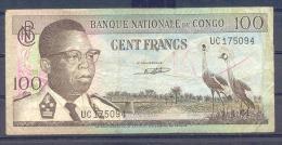 Congo Kongo 100 Fr 1964  Fine - République Démocratique Du Congo & Zaïre