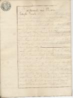 107/22 - Papier Fiscal Révolutionnaire - Acte 1809 Du Notaire Vinck à MALINES , Département Des 2 Nèthes - 1794-1814 (French Period)