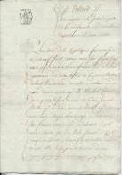 108/22 - Papier Fiscal Révolutionnaire - Acte An 13 De La Justice De Paix à MALINES , Département Des 2 Nèthes - 1794-1814 (French Period)