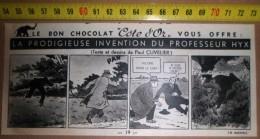 PUB PUBLICITE CHOCOLOAT COTE D OR ELEPHANT LA PRODIGIEUSE AVENTURE DU PROFESSEUR HYX ILLUSTRE PAR PAUL CUVELIER - Publicités