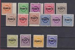 AUTRICHE //  Série  Porto  // N 185 à 199   //   NEUF **  // - 1945-.... 2nd Republic