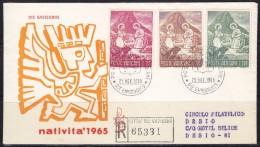 3213. Vatican, 1965, Christmas, FDC - FDC