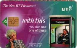 BT : Cabin Téléphonique £5 : Exp Juin 1998 (Scratch) - Téléphones