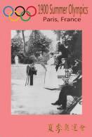 (NZ19-018 )  Tennis   1900 Paris  , Olympic Games , Postal Stationery-Postsache F - Summer 1900: Paris