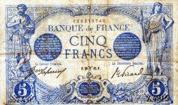 5 FR BLEU MARS1915 - 5 F 1912-1917 ''Bleu''