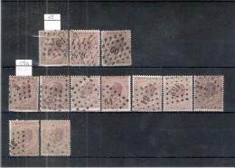 Bel Ensemble Du N°19 Et 19A Pour étude Oblitérations Et Nuances (à Voir) - 1865-1866 Profile Left