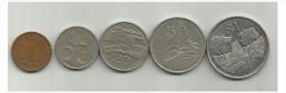 ZIMBABWE - 5 Coins All 1980 - Zimbabwe