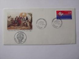 Enveloppe Bicentenaire De La Révolution Du 1er Janvier 1989 à Tulle Cachet L'envol, Voyage Spécial Ballon - Marcofilie (Brieven)