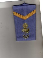 Epaulette  - Nations Unis  - 1 Galon - Grenade Dorée  - Tissus Bleu Clair - Equipo
